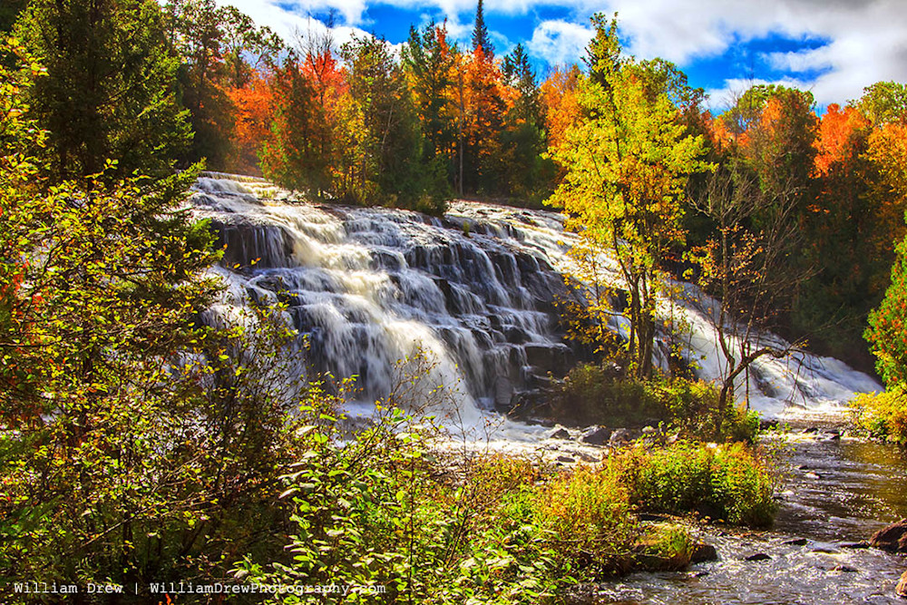 Bond Falls Autumn - Fall Colors | William Drew Photography