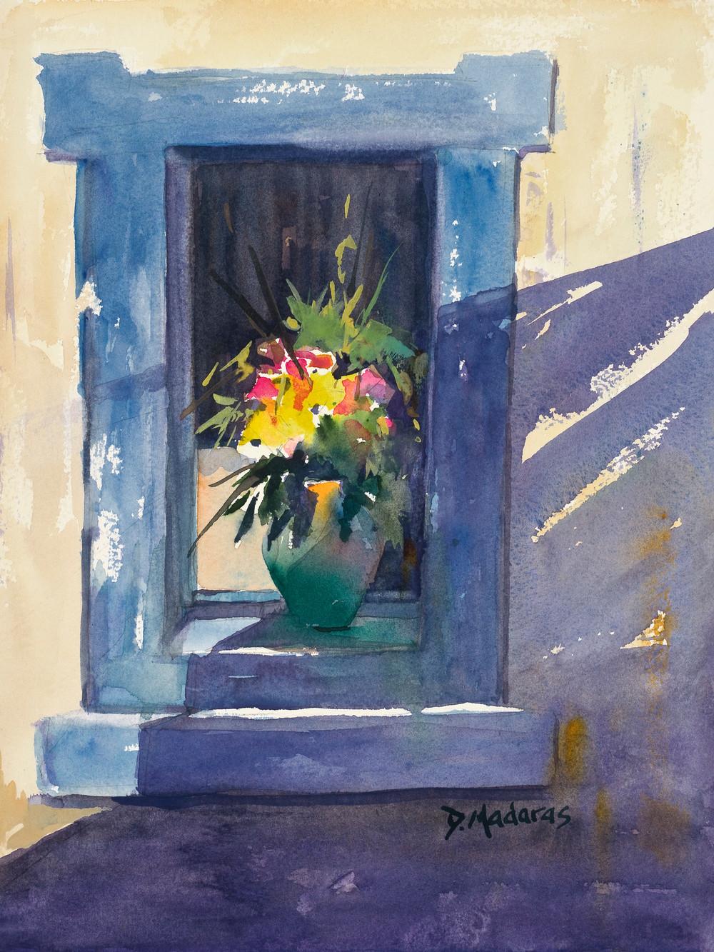 Pot in the Blue Window Greece