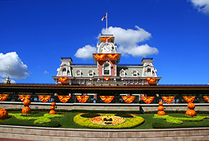 Magic Kingdom Halloween Train Station