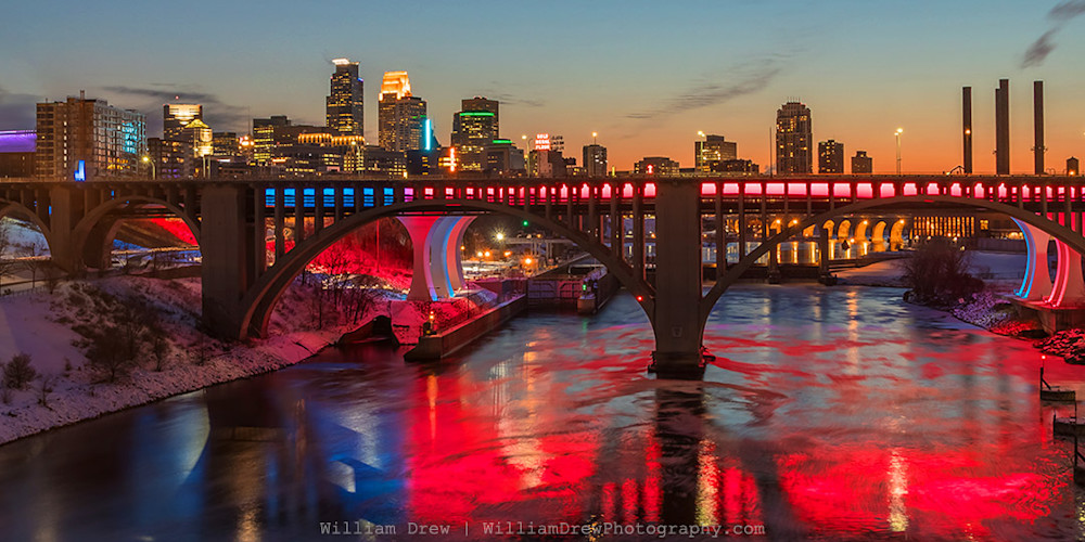 Minnesota Twins Home Opener Skyline Colors - Minneapolis Wall Art | William Drew Photography