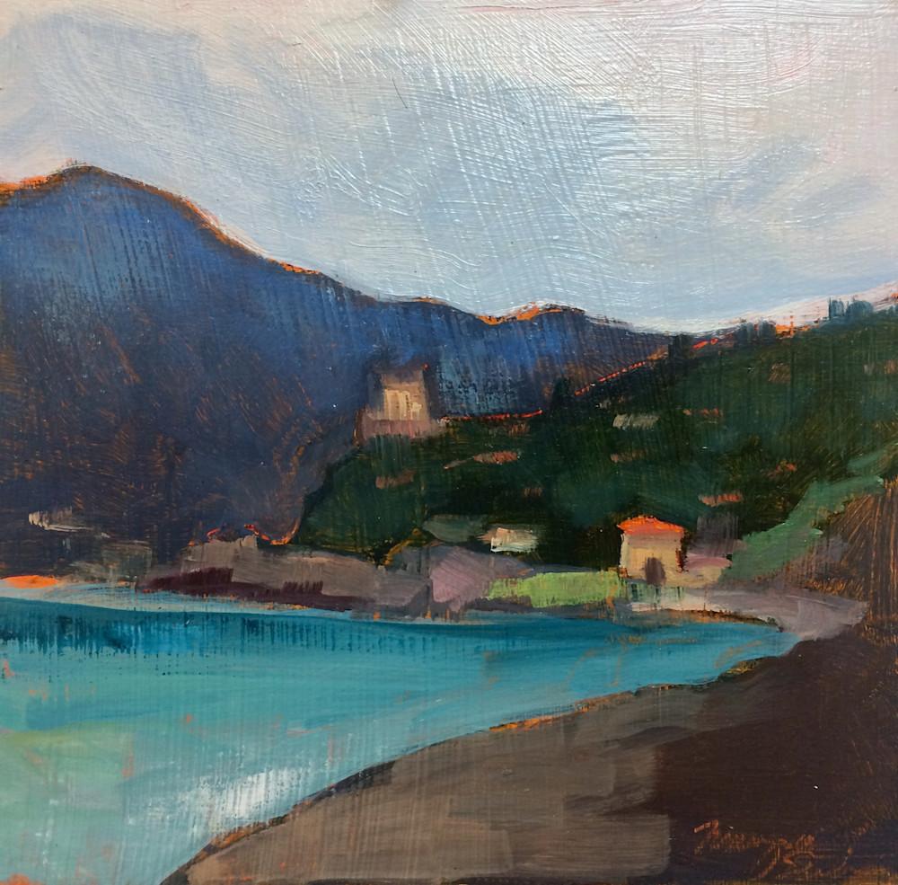 "Tuscany, Beach at Capalbio, Oil, 8""x8"""