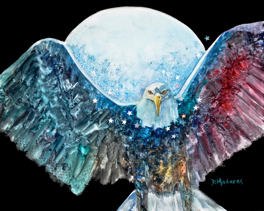 Amazing Grace Eagle Watercolor