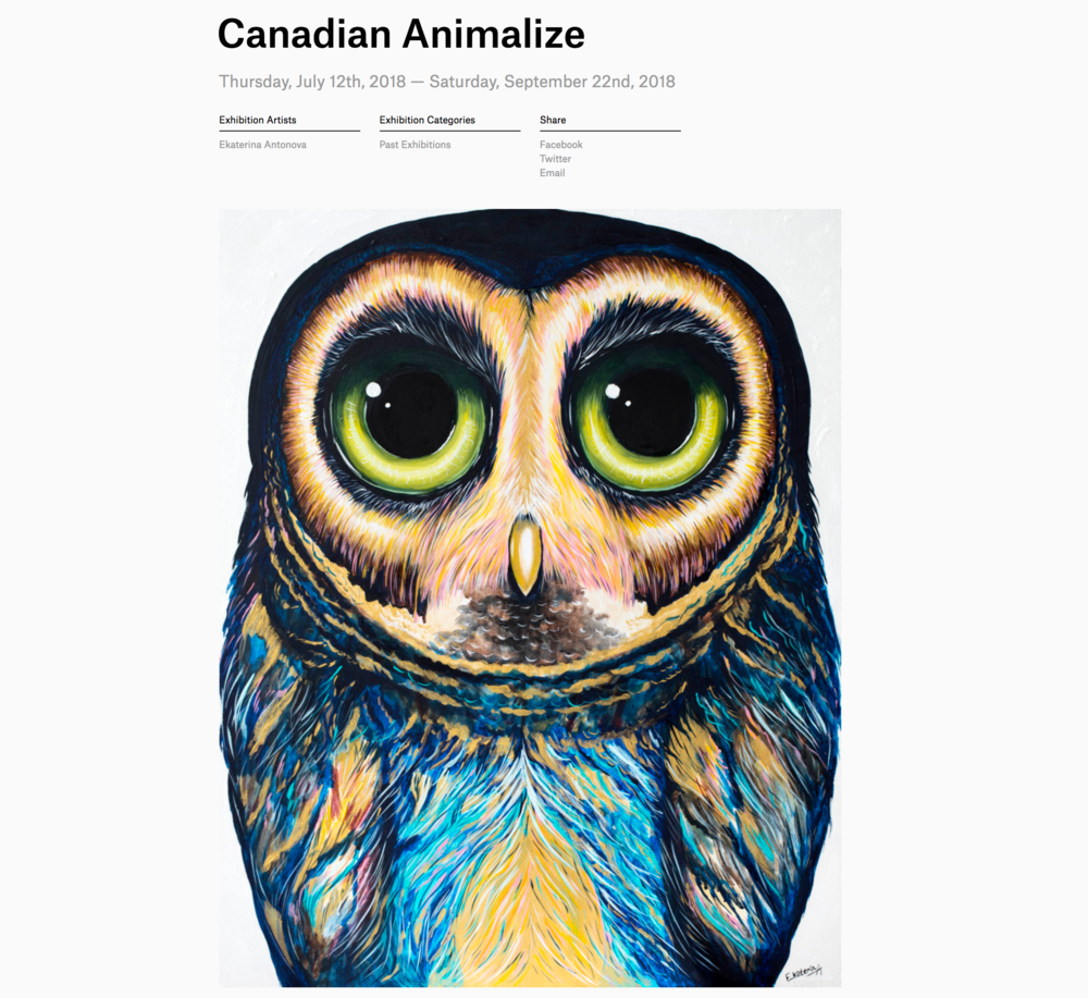 About Canadian Animalize Exhibition