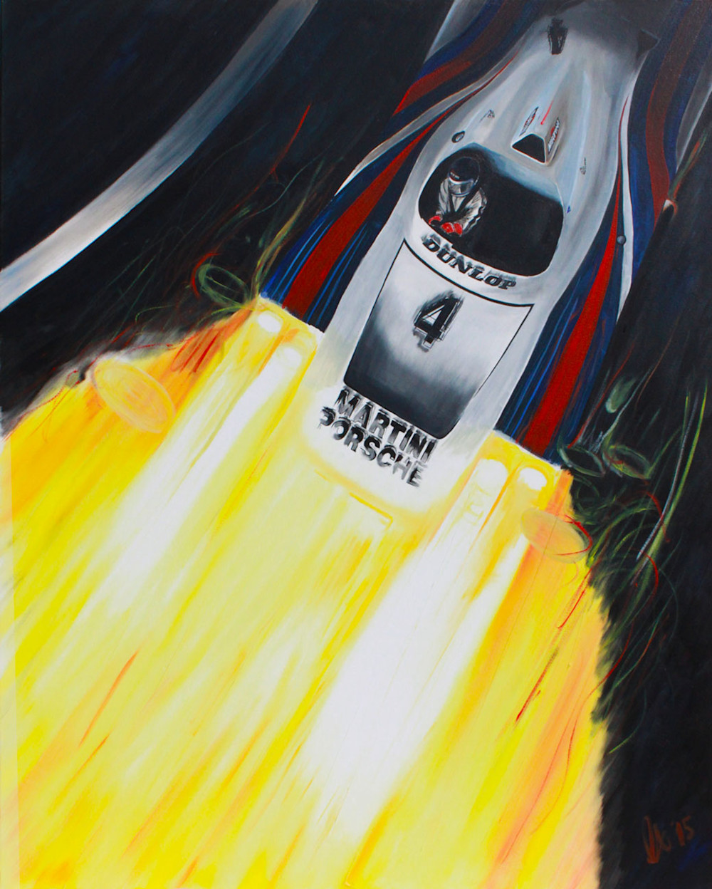 canepa, porsche-936, martini-rossi, martini, jacky-ickx, le-mans, oil-on-canvas