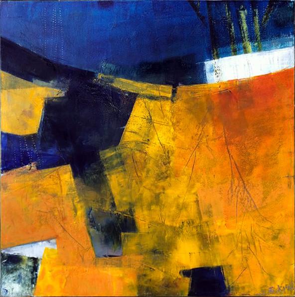 Gold 12 x 12 by Sharon Kirsh