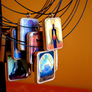 Art Pendants by Jenny Hahn