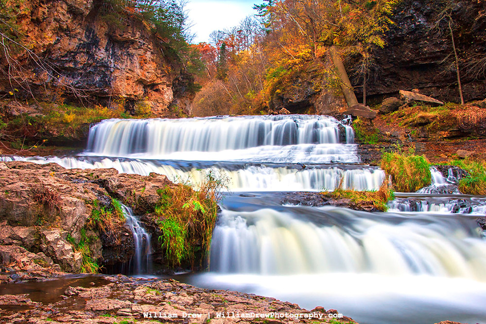 Willow River Falls in Autumn - Best Fall Photos | William Drew