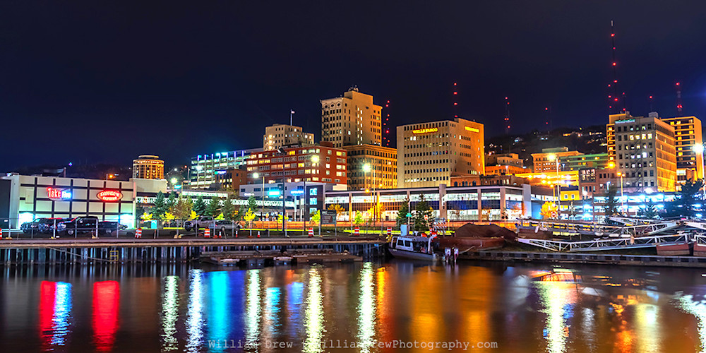 Downtown Duluth at Night - Duluth Photos | William Drew