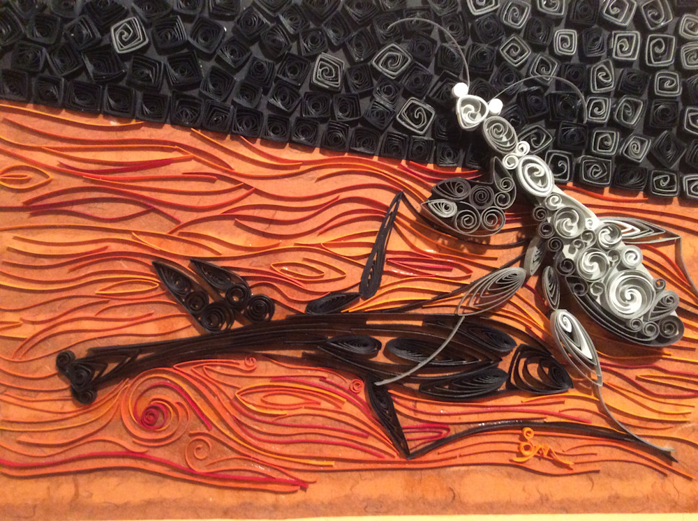 insect art, quilling