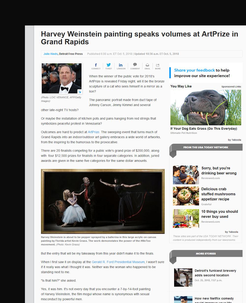 Harvey Weinstein painting speaks volumes at ArtPrize in Grand Rapids article in Detroit Free Press