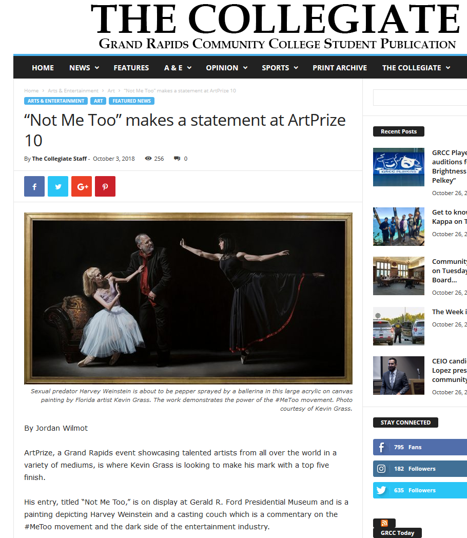 """""""Not Me Too"""" makes a statement at ArtPrize 10 article in The Collegiate"""