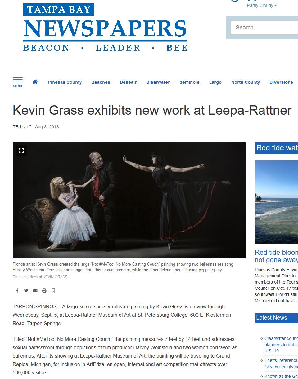 Kevin Grass exhibits new work at Leepa-Rattner Museum in Tarpon Springs