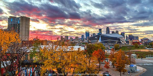 Minneapolis Sunday Sunset - Mpls Skyline | William Drew