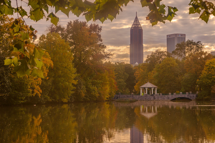 Bank of American building seen from Piedmont Park