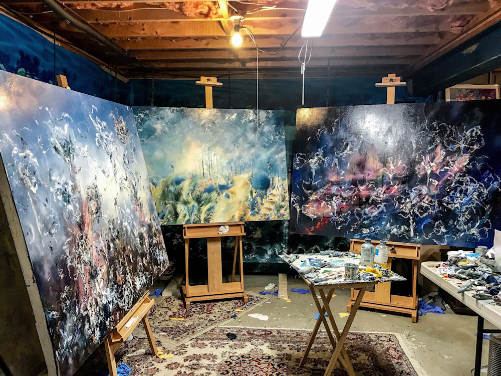 Contemporary Abstract Artist Studio