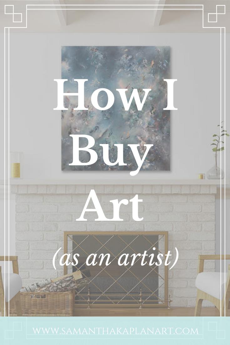 How an artist buys art