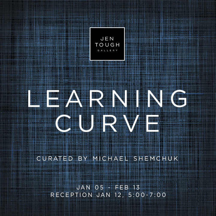 Invitation to Learning Curve exhibition at Jen Tough Gallery
