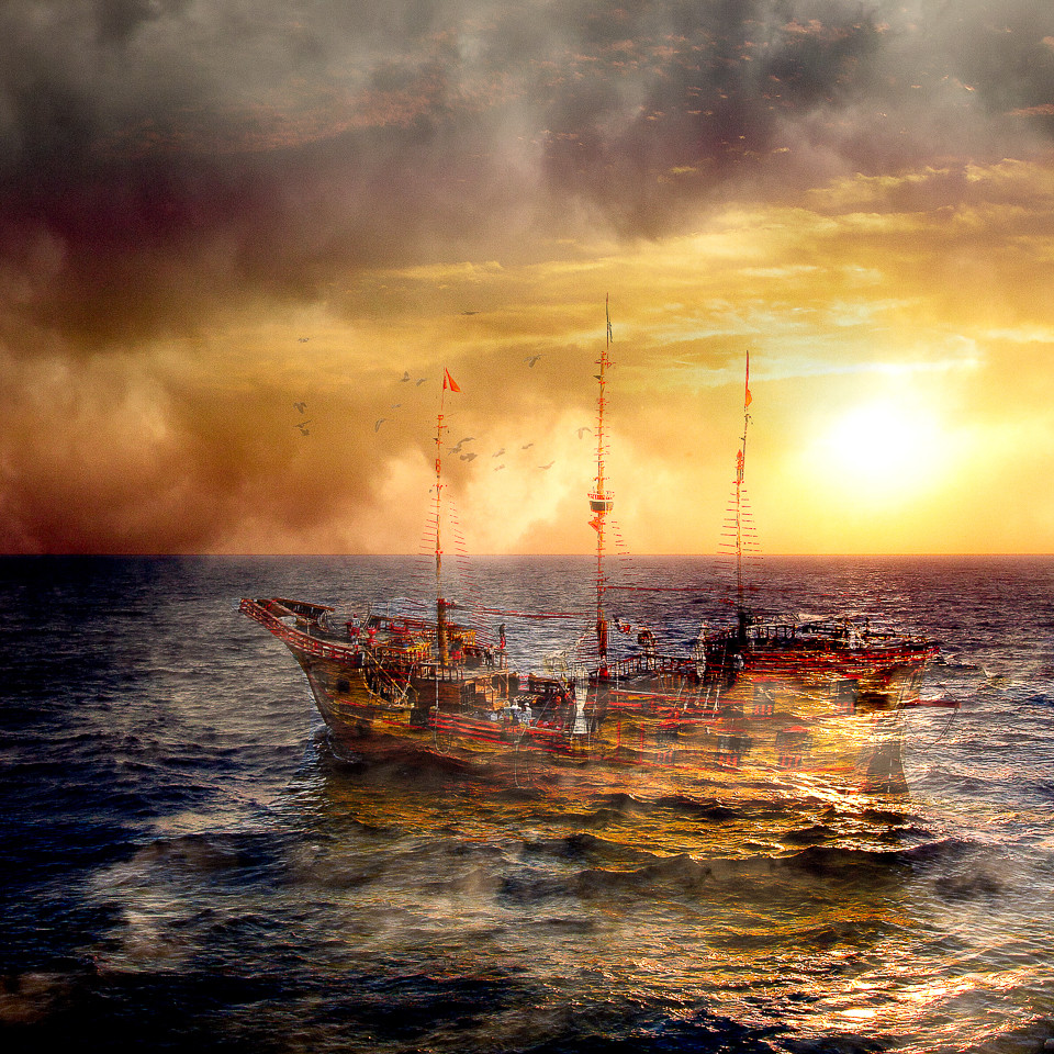 Ghost Ship - Photo Montage - by artist Vincent DiLeo
