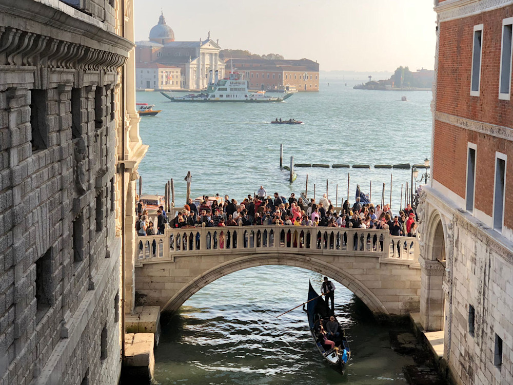 San Giorgio Maggiore from the Bridge of Sighs