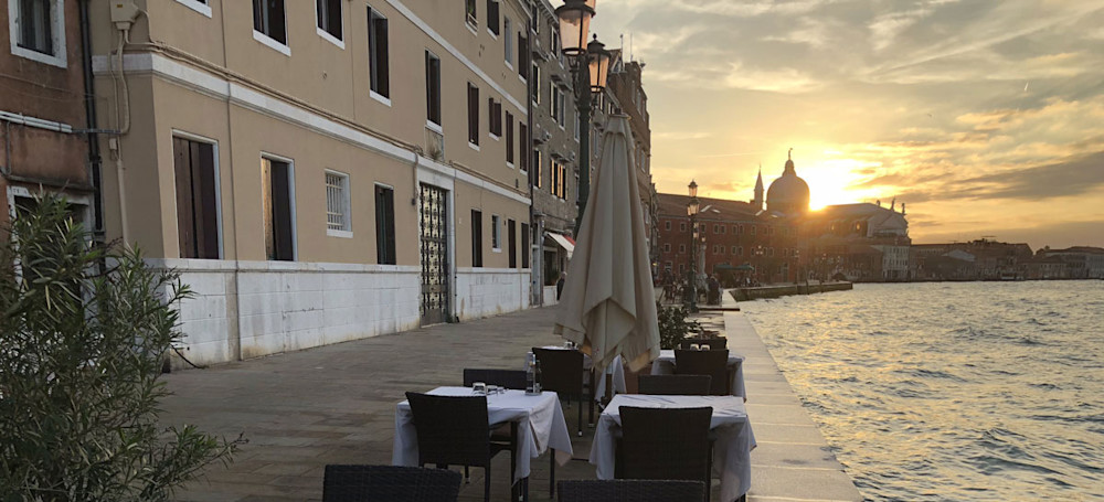 Cafe on the Island of Giudecca