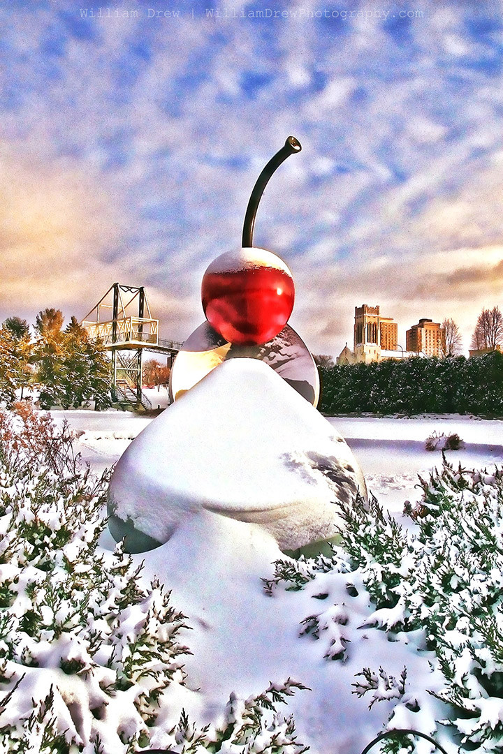 Cherry Spoon - Minneapolis Art Featuring the Spoonbridge and Cherry Sculpture | William Drew Photography