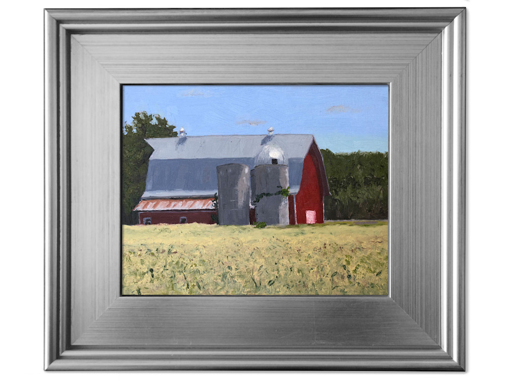 Red Barn in Hayward, WI by Abbey Fitzgerald Plein Air Painter