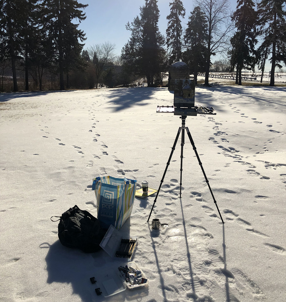 Abbey Fitzgerald Plein Air Painting at Graeser Park