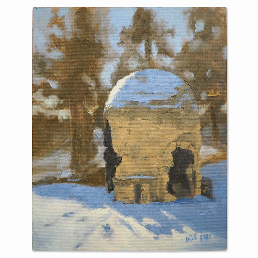 Abbey Fitzgerald Painting of Graeser Park Fireplace