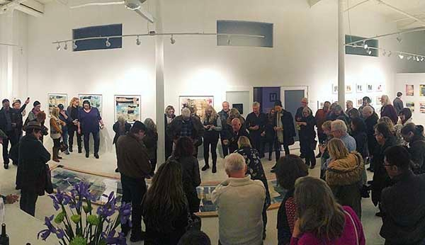 Opening reception of group show at Jen Tough Gallery in California