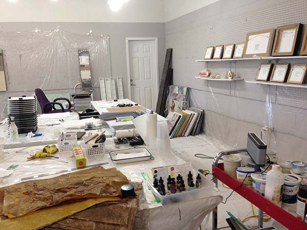 art studio of artist shirley williams