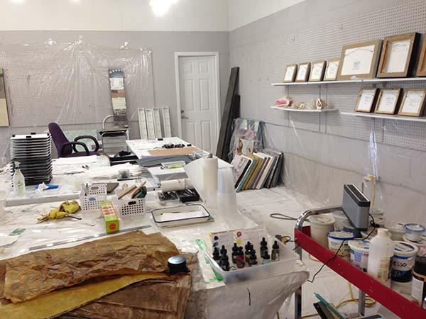 art studio of artist shirley williams