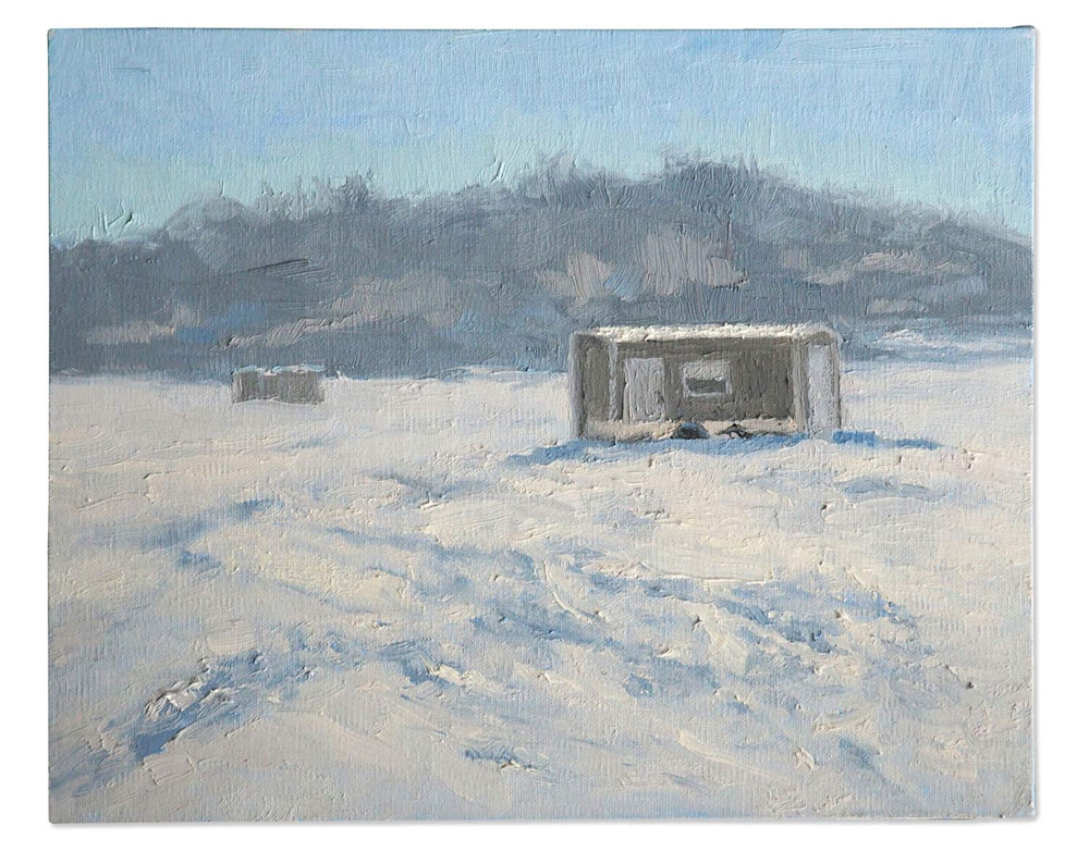 Abbey Fitzgerald Ice House Painting at Lake Minnetonka