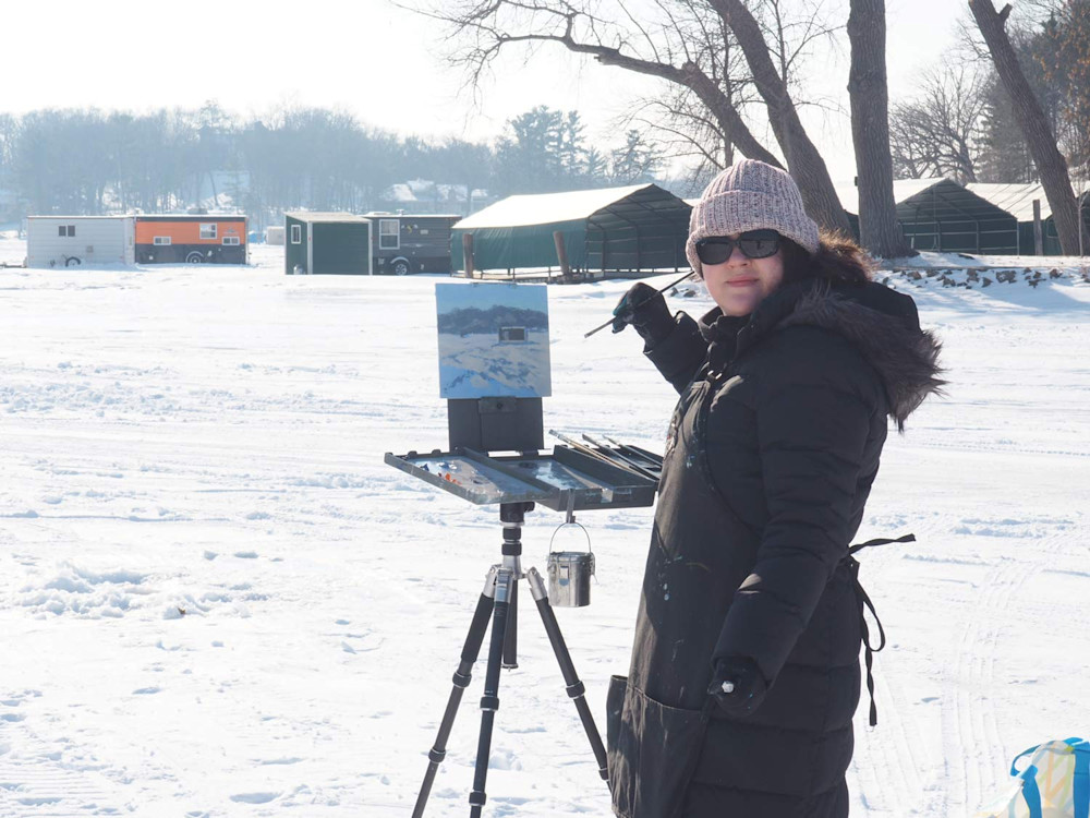 Abbey Fitzgerald Winter Plein Air Painting