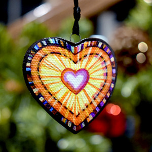 Love is Eternal handcrafted ornament