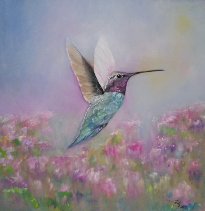 Lauren Jones hummingbird painting