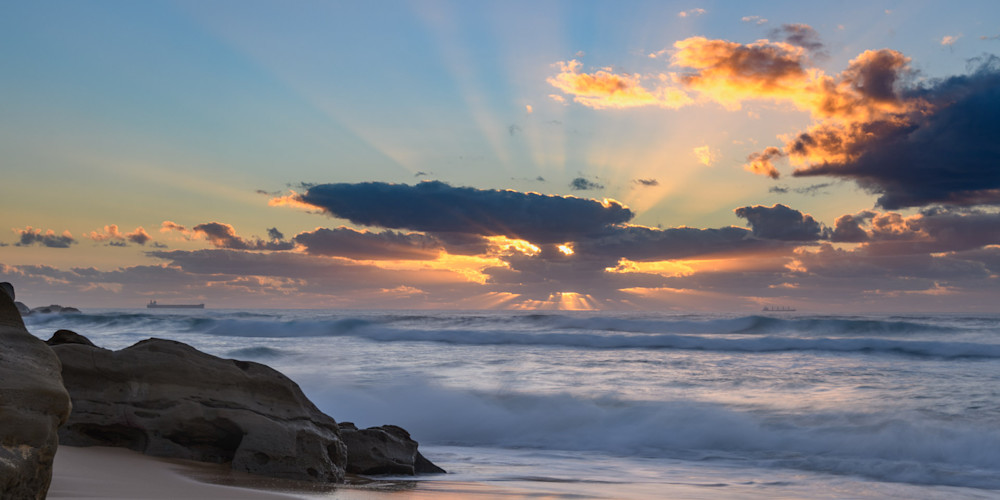 RAYS OF LIGHT - REDHEAD BEACH NEWCASTLE LAKE MACQUARIE NSW AUSTRALIA