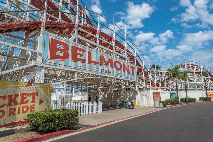 Belmont Rollercoaster in San Diego