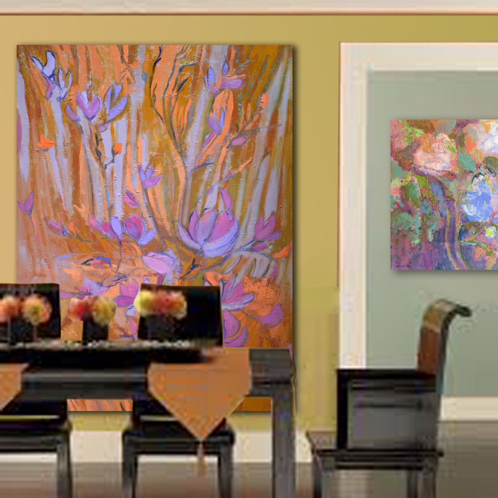 Abstract Tulips Painting by Dorothy Fagan