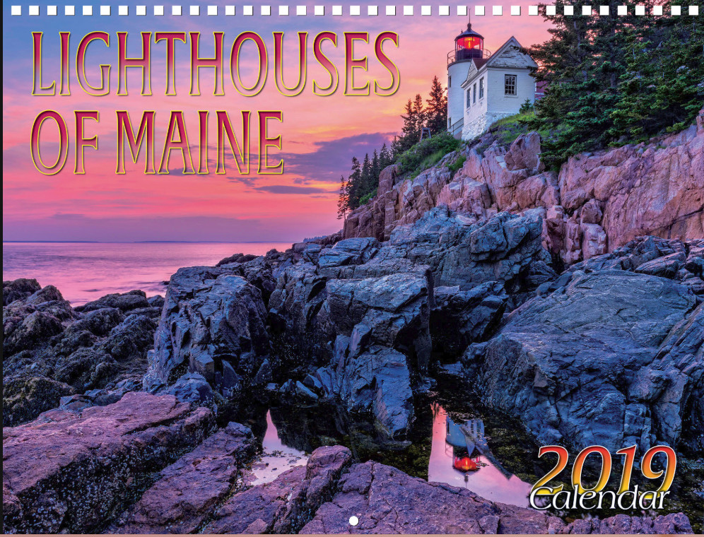 Thomas Schoeller 2019 Lighthouses of Maine calendar cover shot