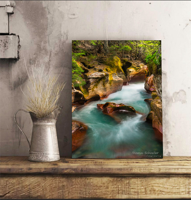 "Luxurious, opulent acrylic fine art pieces are strong and rigid, and can be displayed on a shelf or mantle or wall mounted. Print titled ""Cut Through the Heart"" by Thomas Schoeller Photography"