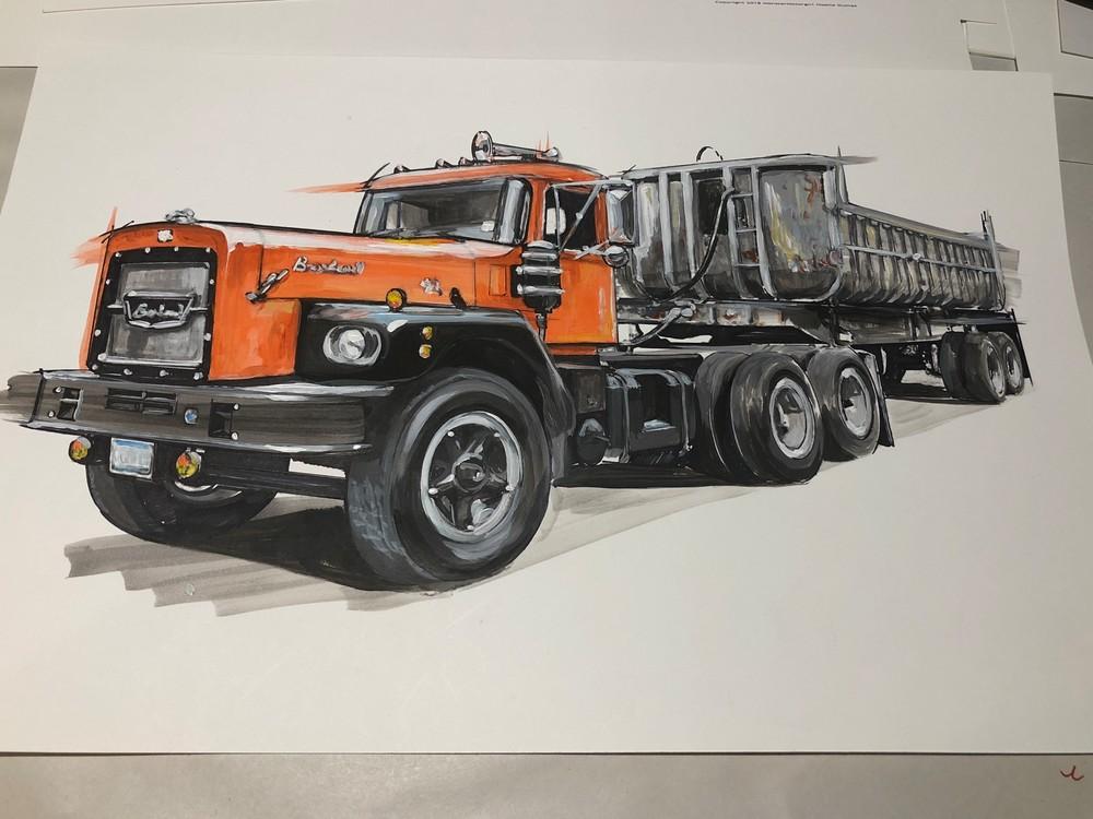 semi truck art