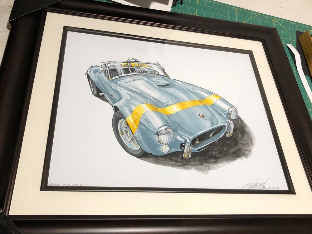ac cobra shelby painting