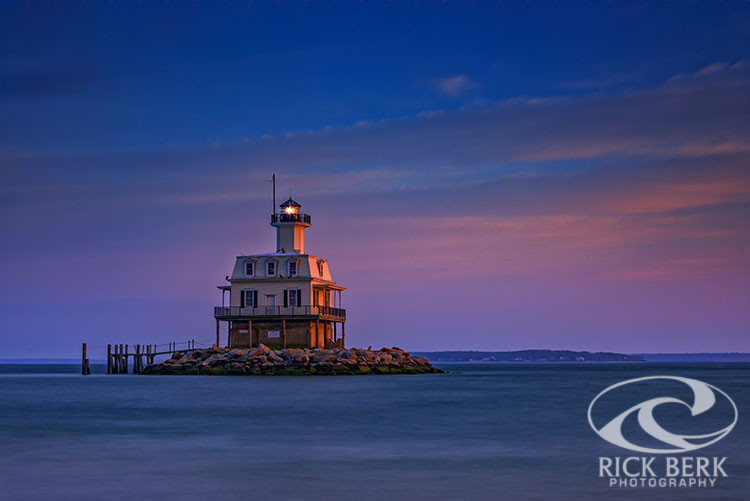 Dusk Falls on the Bug Light