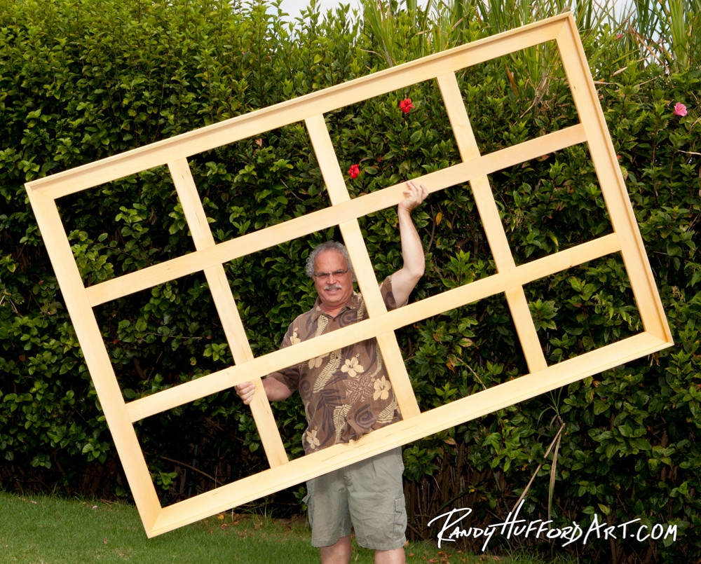 large stretcher bars used to support a giclee, canvas, inkjet canvas, and linen