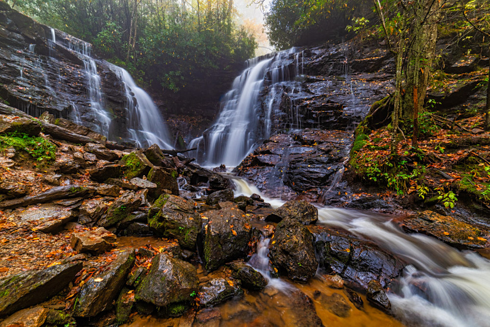 Soco Falls is a wonderful example of the amazing waterfalls found throughout the Smoky Mountains.