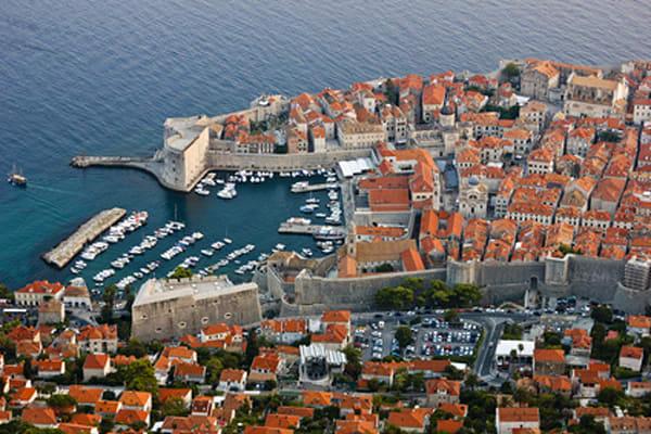 Old Harbor of Dubrovnik in Croatia