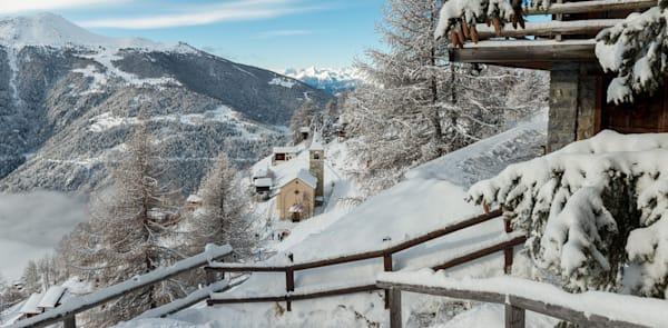Swiss Alps snow scene