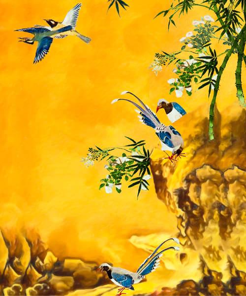 Oriental Art On Canvas As A Gallery Wrap.