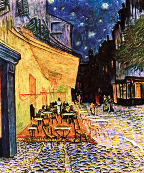 Cafe Terrace At Night art print for sale - The Gallery Wrap Store