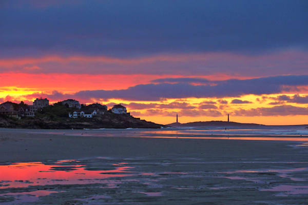 Twin Lights Sunset Art | capeanngiclee